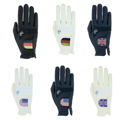 "Roeckl Reithandschuhe "" R_MARYLAND "" Handschuhe mit Flagge"