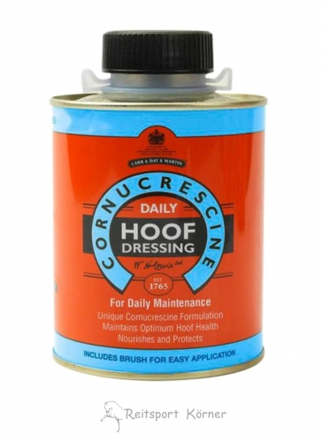 Carr & Day Daily Hoof Dressing, Hufcreme mit Pinsel im Deckel, 500ml